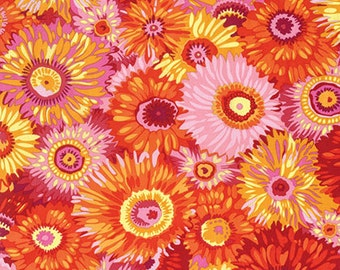 Philip Jacobs for Rowan & Westminster Fibers - Zany - Hot - Red - 1/2 Yard Cotton Quilt Fabric 916