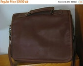 20% Heart Sale Hilton Grand Vacation Club Brown Faux Leather Messenger Bag With Key