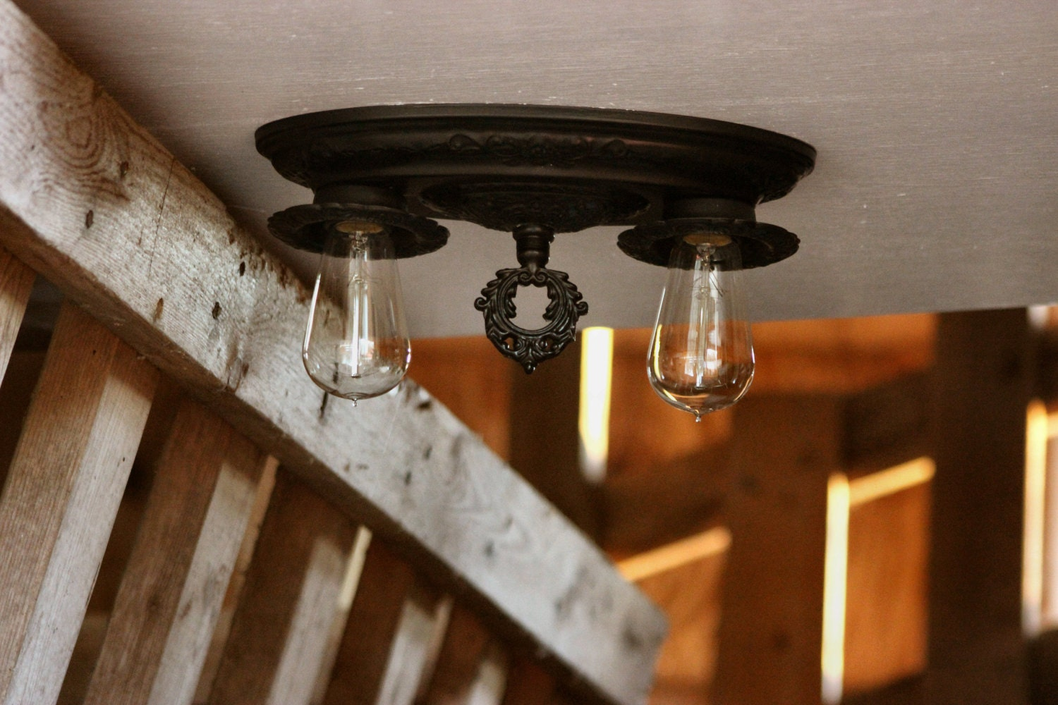 Westmenlights Vintage Small Ceiling Light Flush Mount: Antique Flush Mount FREE SHIPPING Antique Ceiling Light