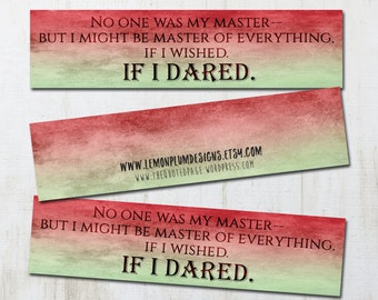 ACOMAF Quote Art Watercolor Bookmark - A Court of Mist and Fury Inspired Literary Quote Rhys Feyre Rhysand Book Nerd Fandom Fan