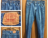 Vintage - LEVI 505 Jeans - Made in USA - Levi Strauss 505 Jeans - W35 x L29