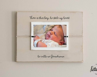grandma picture frame theres this boy who stole my heart nana memaw - Nana Picture Frame