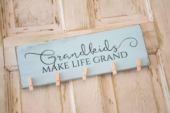 Grandkids make life grand photo display, grandparents gift, grandmother frame, picture holder