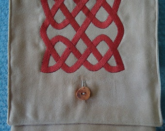 Celtic Knot Embroidered Belt Pouch