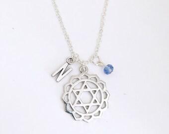 Personalized Chakra Pendant Anahata Chakra Necklace