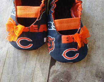 Chicago Bears Baby Maryjane Booties