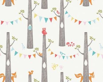 KNIT - Birch Fabrics - 100% Organic Cotton - Woodland Party - Circa 52