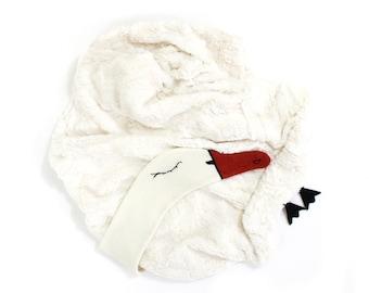 Swan Baby Blanket - soft baby blanket, newborn blanket, toddler blanket