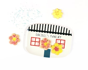 La Petite Patisserie / Little Bakery tray - tableware, dinnerware, melamine tray, kids serving tray, children's tray, house tray