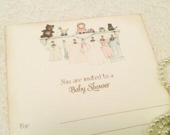 Fill in Blank Baby Shower Invitations-Gender Neutral Baby Shower Invites-Blank Party Invitations-Set of 10