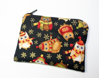 Coin purse, change purse, Christmas purse, owl purse