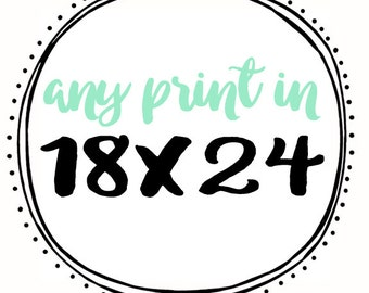 Any Print in 18x24