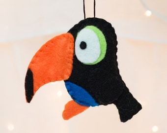 Felt Bird Ornament - Felt Tucan Ornament