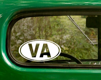 2 VA Virginia Decals Oval State Sticker For Car Truck Jeep Laptop Rv Bumper Bulk Window Laptop 4x4