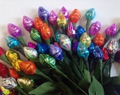 Custom Order for Ruth- 220 Chocolate Hershey Kiss Flowers-Assrt Colors