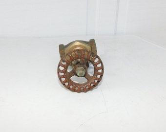 Vintage Valve Steampunk Crane Brass? Valve 3/4 250 With Faucet Handle