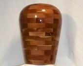 Red Cedar Segmented Cremation Urn