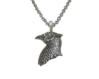 Pheasant Bird Head Pendant Necklace
