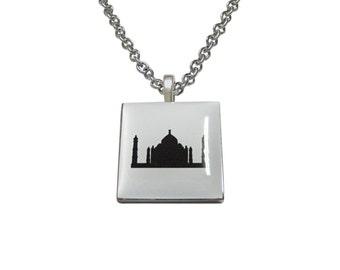 Square Taj Mahal Pendant Necklace