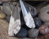 Vintage Laurel Burch Tropical Flower Earrings