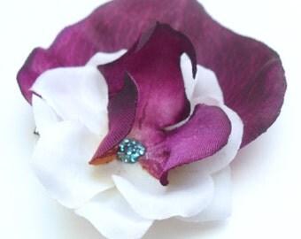 Tropical Flower Hair Clip, Purple Orchid