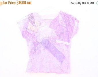 10,000 LIKES 7 Day Sale Totally Unique 90s Pastel Patchwork Festival Doof Crop Top / Tee T Shirt