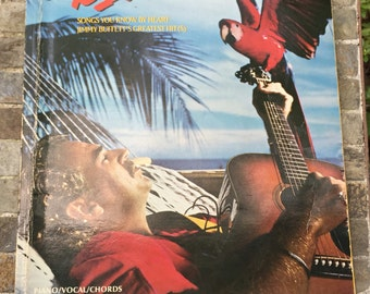 Jimmy Buffett greatest hits piano vocal guitar book. Songbook 1985.