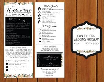 Fun and Floral Wedding Program