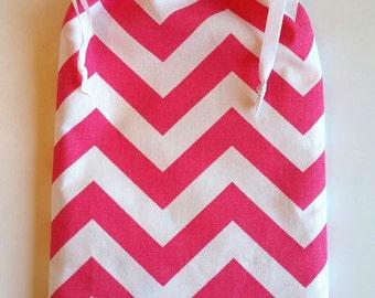 Gift Bag Chevron, reusable drawstring bag for gift giving - American Made
