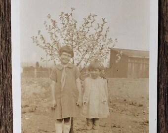 Original Vintage Photograph Kneesocks & Bobbed Hair