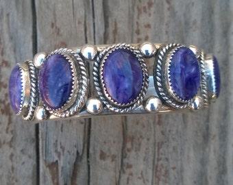 Randy Hoskie Charolite Cuff Bracelet From The 1990's