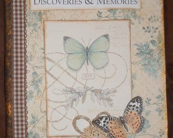 Discoveries & Memories OOAK Altered Notebook/Journal