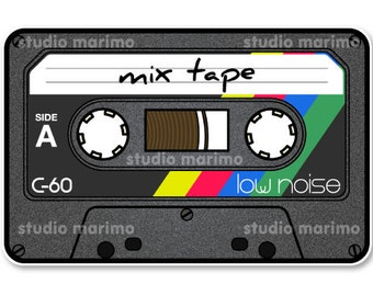 Mix Tape // Vinyl Sticker / Decal / Bumper Sticker