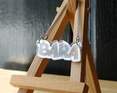 Silver Mirror Bara Necklace