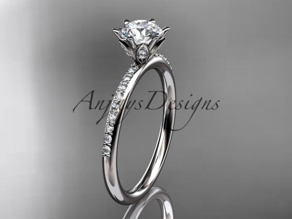 platinum diamond unique engagement ring, wedding ring ADER145