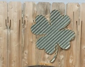 FREE SHIPPING Vintage Style Corrugated Shamrock Metal Sign