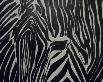Stripes 16x20  Acrylic Abstract Handpainted Zebra Pop Art