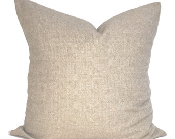 Tan Pillow Cover, Tan Decorative Pillow, Taupe Throw Pillow, Solid Pillow, Accent Pillow, Pillow Covers, Tan Euro, Cushion, Euro. Textured