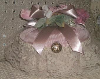 Romantic and Charming  Shabby Chic/Victorian Handmade Trinket Box