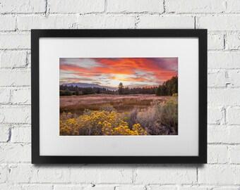 Lake Tahoe Sunset Fine Art Photography Home Decor  Sunset in South Lake Tahoe