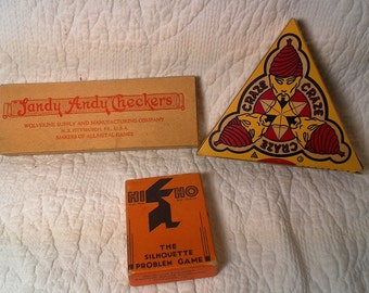 Antique Games: CRAZE, HI HO, and Sandy Andy Checkers