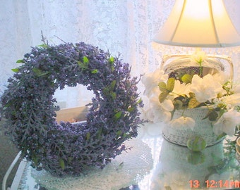 Berry Wreath Lavender Romantic Shabby Cottage Chic