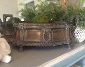 Large Antique Brass Jardiniere Antiqoe Brass Container