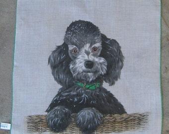TREASURY LIST Item Vintage Skandia Poodle Handkerchief
