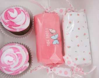 Butterfly Baby Shower Gift Set Washcloth Cupcake Gift Box butterfly - newborn