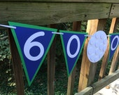 Golf Themed Banner, Over the Hill Birthday Party, Golf Happy Birthday Banner - Personalized