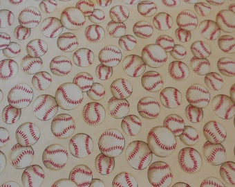 "Alexander Henry ""Baseball"" / Tea color Fabric 1 Yard"