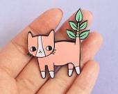 Plant Kitty Soft Enamel Pin