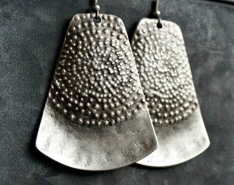 Azize Silver Earrings Tribal Earrings Bohemian Jewelry