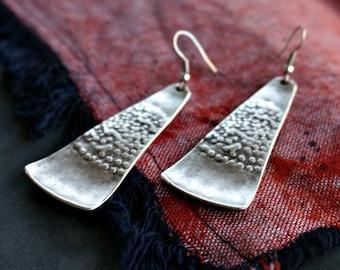 Azi Silver Earrings Tribal Earrings Bohemian Jewelry